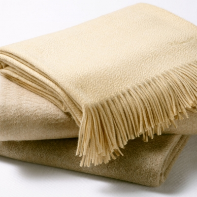FRINGED CASHMERE THROWS